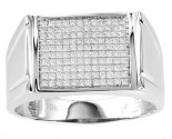 Men's Diamond Ring 10K White Gold 0.33 cts. GS-21754