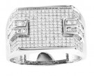 Men's Diamond Ring 10K White Gold 0.75 cts. GS-21755