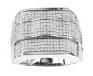 Men's Diamond Ring 10K White Gold 1.00 ct. GS-21891