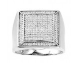 Men's Diamond Ring 10K White Gold 0.50 cts. GS-21899