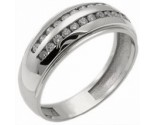Men's Diamond Ring 14K White Gold 0.60 cts. MSD-208