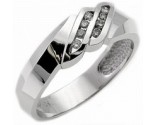 Men's Diamond Ring 14K White Gold 0.25 cts. MSD-212
