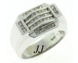 Men's Diamond Ring 14K White Gold 1.40 cts. MRX-258