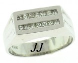 Men's Diamond Ring 14K White Gold 0.65 cts. MRX-263