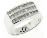 Men's Diamond Ring 14K White Gold 1.85 cts. MRX-276