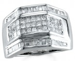 Men's Diamond Ring 14K White Gold 2.00 cts. S18-20
