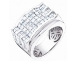 Men's Diamond Ring 14K White Gold 5.00 cts. S64-4