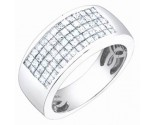 Men's Diamond Ring 14K White Gold 2.00 cts. S64-6