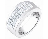 Men's Diamond Ring 14K White Gold 2.30 cts. S64-7
