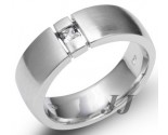 Men's Diamond Ring 14K White Gold 0.18 cts. SK-001