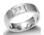 Men's Diamond Ring 14K White Gold 0.35 cts. SK-003