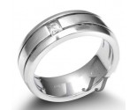 Men's Diamond Ring 14K White Gold 0.15 cts. SK-004