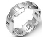 Men's Diamond Ring 14K White Gold 0.20 cts. SK-022