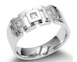Men's Diamond Ring 14K White Gold 0.35 cts. SK-037