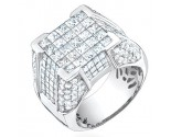 Men's Diamond Ring 14K White Gold 5.30 cts. S64-3