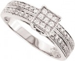 925 Sterling Silver Engagement Ring GD-25133