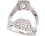 925 Sterling Silver Engagement Ring GD-25137