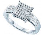 925 Sterling Silver Ring with Diamonds 0.18 cts GD-56242