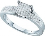 925 Sterling Silver Ring with Diamonds 0.15 cts GD-56263