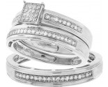 925 Sterling Silver Trio Set with Diamonds 0.30 cts GD-56345