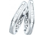 925 Sterling Silver Earrings with Diamonds 0.25 cts. GD-62837