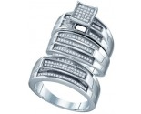 925 Sterling Silver Trio Set with Diamonds 0.44 cts GD-63017