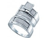 925 Sterling Silver Trio Set with Diamonds 0.41 cts GD-63019