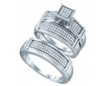 925 Sterling Silver Trio Set with Diamonds 0.43 cts GD-63060