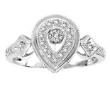 925 Sterling Silver Ring with Diamonds 0.20 cts GS-23294