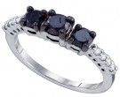 Three Stone Diamond Ring 10K White Gold 1.06 cts. GD-64349