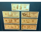 24KT Pure Gold Bills 7 Bank Notes GB-700