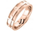 Rose Gold Dual Space Wedding Band 7mm RG-1051
