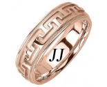 Rose Gold Big 'T' Wedding Band 6.5mm RG-1052