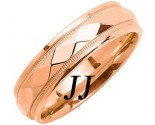 Rose Gold Hammered Wedding Band 6mm RG-1055