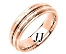 Rose Gold Brick Wedding Band 6.5mm RG-1057