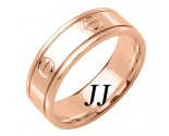 Rose Gold Screwdriver Wedding Band 7mm RG-1063