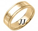 Yellow Gold Screwdriver Wedding Band 7mm YG-1063