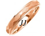 Rose Gold Sandblasted Wedding Band 4mm RG-1070