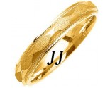 Yellow Gold Sandblasted Wedding Band 4mm YG-1070