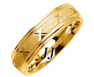 Yellow Gold Sandblasted Wedding Band 6mm YG-1071