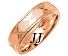Rose Gold Sandblasted Wedding Band 6mm RG-1073