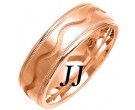 Rose Gold Wave Wedding Band 7mm RG-1075