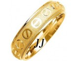 Yellow Gold Screwdriver Wedding Band 6mm YG-1077