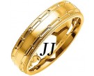 Yellow Gold Dot to Dot Wedding Band 6mm YG-1079
