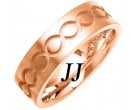 Rose Gold Ellipses Wedding Band 7mm RG-1080