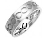 White Gold Ellipses Wedding Band 7mm WG-1080