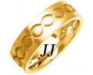 Yellow Gold Ellipses Wedding Band 7mm YG-1080