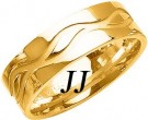 Yellow Gold Wave Wedding Band 7mm YG-1081