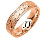 Rose Gold Swirled Wedding Band 6mm RG-1083
