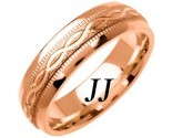 Rose Gold Ellipses Wedding Band 6mm RG-1084